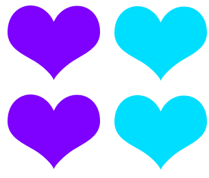 VDheart1 Pattern Set: VDOLL Hearts