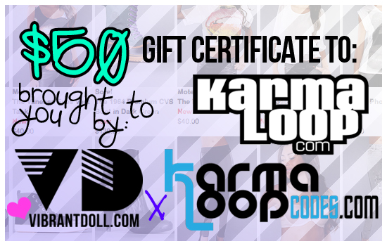 KLGC Vibrant Doll x Karmaloop Codes $50 KL Gift Card GIVEAWAY