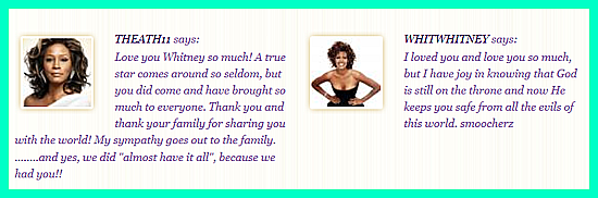 fanquotes Whitney Houston Tribute