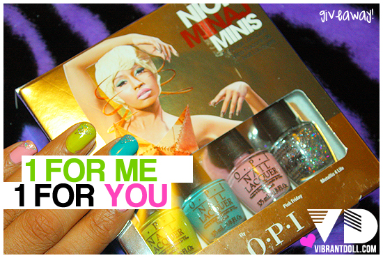nicki opi giveaway 1FM, 1FU! Nicki Minaj OPI Swatch & Giveaway