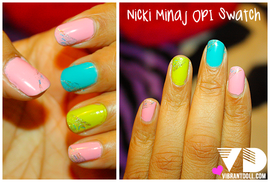 nicki opi swatch 1FM, 1FU! Nicki Minaj OPI Swatch & Giveaway